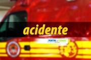 Motociclista sai ferida após colisão com carro no Guabiruba Sul