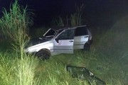 Colisão traseira causa capotamento na PR-323 em Cruzeiro do Oeste