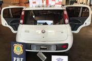 Receita Federal apreende carro com celulares de alto valor em fundo falso