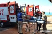 Trabalhador fica ferido após cair de andaime em Umuarama