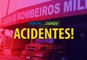 Mulheres saem feridas em acidente na Ivo Silveira