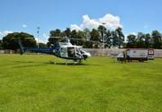 Vítima de infarto é transferida de helicóptero do Samu para Umuarama