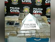 Dupla vinha sendo investigada pela Polícia Civil e foi encontrada com 40 tabletes de maconha