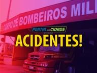 Bombeiros atenderam o acidente durante a tarde desta sexta-feira (23)