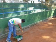Área turística também recebeu os trabalhos da Secretaria de Esportes