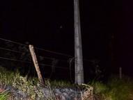 O problema ocorreu em um para-raio próximo a subestação da Copel na estrada Cachoeirinha.