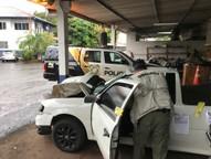 Amostras foram coletadas para ajudar na identificação dos envolvidos no acidente.