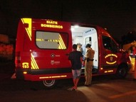 A vítima foi encaminhada ao Pronto Socorro do Hospital Municipal.