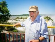 O ex-presidente do Uruguai, aproveitou agenda em Foz e visitou as Cataratas do Iguaçu.