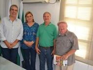 A equipe esteve representada pelo diretor de logística, Falleiros Filho.