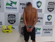 O jovem, de 22 anos, tinha ainda um mandado de prisão em aberto por furto