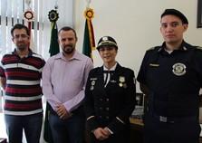 Comandante da Guarda Municipal de Três Pontas visita Andradas