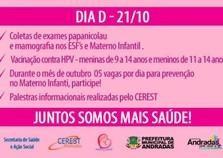 Secretaria Municipal de Saúde e Ação Social realiza ações do Outubro Rosa