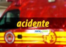 Motociclista sai ferida após colisão com carro no Santa Terezinha