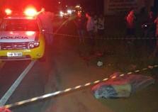 Homem morre após ser atropelado na rodovia PR-487 em Umuarama