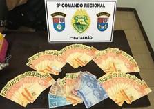 Policiais do 7º BPM apreendem mais de R$4 mil em notas falsas