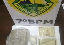 Policiais do 7º BPM capturam foragido da justiça e apreendem drogas