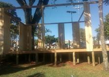 A casa do bom velhinho já está em construção.