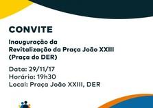 Inauguração da revitalização da praça do DER de Cruzeiro do Oeste.