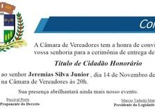 Jeremias Silva, Proprietário do Frigoastra receberá título de Cidadão Honorário.
