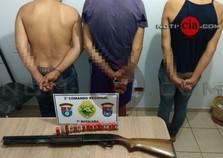 Após perseguição e troca de tiros, Polícia de Rondon prende suspeitos