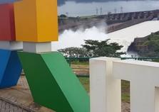 Excesso de chuva faz Hidrelétrica de Itaipu abrir vertedouro