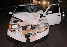 Mulher morre atropelada por carro carregado com cigarros na BR-277