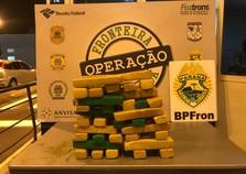 BPFron e Força Nacional apreendem maconha na Ponte da Amizade