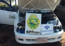 Táxi com produtos em fundo falso é apreendido na Ponte da Amizade