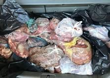 Mais de 400 kg de carne são apreendidas na aduana da PIA