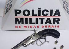 Polícia apreende arma de fogo no Barro Preto