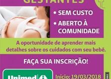 Unimed Paranavaí oferece curso para gestantes gratuitamente