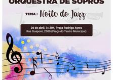 Orquestra de Sopros faz apresentação gratuita na Praça do Teatro