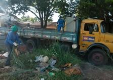 Prefeitura recolhe 97 toneladas de entulho em uma semana