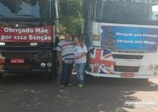 Casal de caminhoneiros umuaramense viaja junto há 10 anos