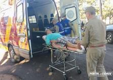 Motociclista fica ferido em acidente de trânsito na Praça Portugal