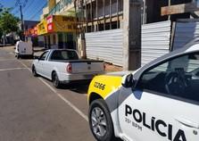Saveiro furtada é localizada pela polícia no centro de Umuarama