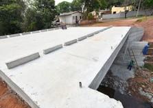 Nova ponte do Jardim Petrópolis já está concretada