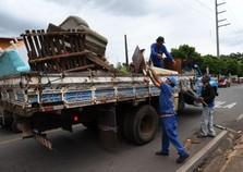 Prefeitura recolhe mais de 5 mil quilos de resíduos no fim de semana