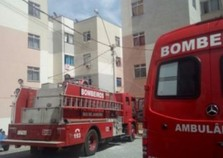Apartamento pega fogo em Volta Redonda