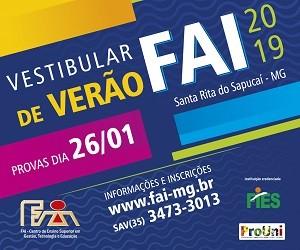 FAI - Centro de Ensino Superior em Gestão, Tecnologia e Educação - Vest Verão