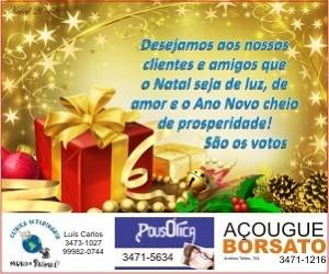 Natal 2018 - Clínica Veterinária Mundo Animal-Açougue Borsato-PousÓtica