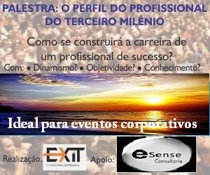 Palestra: O PERFIL DO PROFISSIONAL DO TERCEIRO MILÊNIO