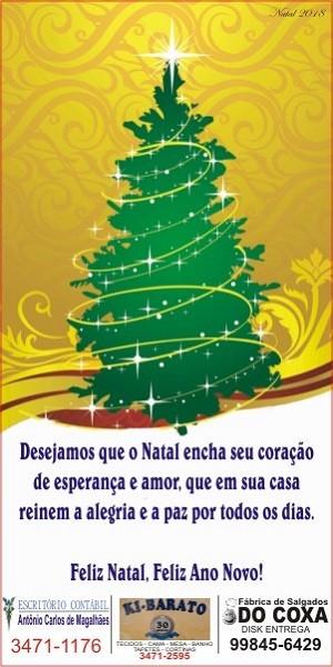 Natal 2018 - Escritório Antônio Carlos - Ki Barato - Salgados do Coxa