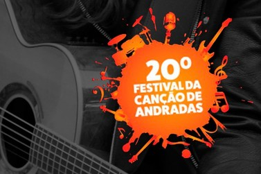 Divulgadas as 20 músicas classificadas para o 20º Festival da Canção de Andradas