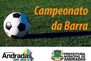 Vai começar o campeonato de Futebol Amador da Barra