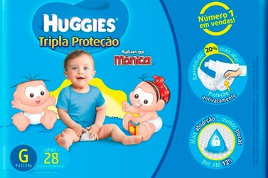 Anvisa suspende venda de fraldas da marca Huggies Turma da Mônica