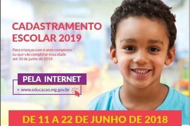 Cadastramento Escolar 2019 começa nesta segunda-feira