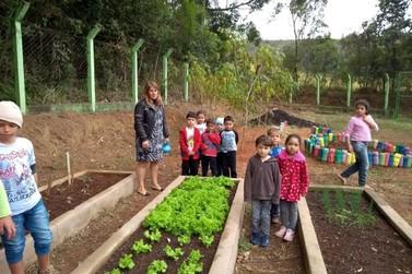 Projeto Horta Escolar é sucesso entre as crianças