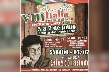 Cantor Silvio Brito estará na 8ª Festa Italiana de Andradas